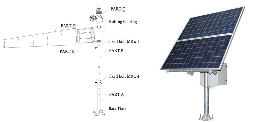 HL-WC-L806 Solar Powered Windcone